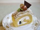 和栗と黄粉のモンブランロール
